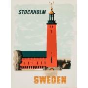Vykort Stadshuset i Stockholm