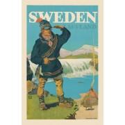 Vykort Sweden Lapland