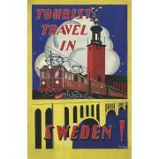 Vykort Tourist Travel in Sweden