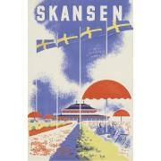 Vykort Skansen