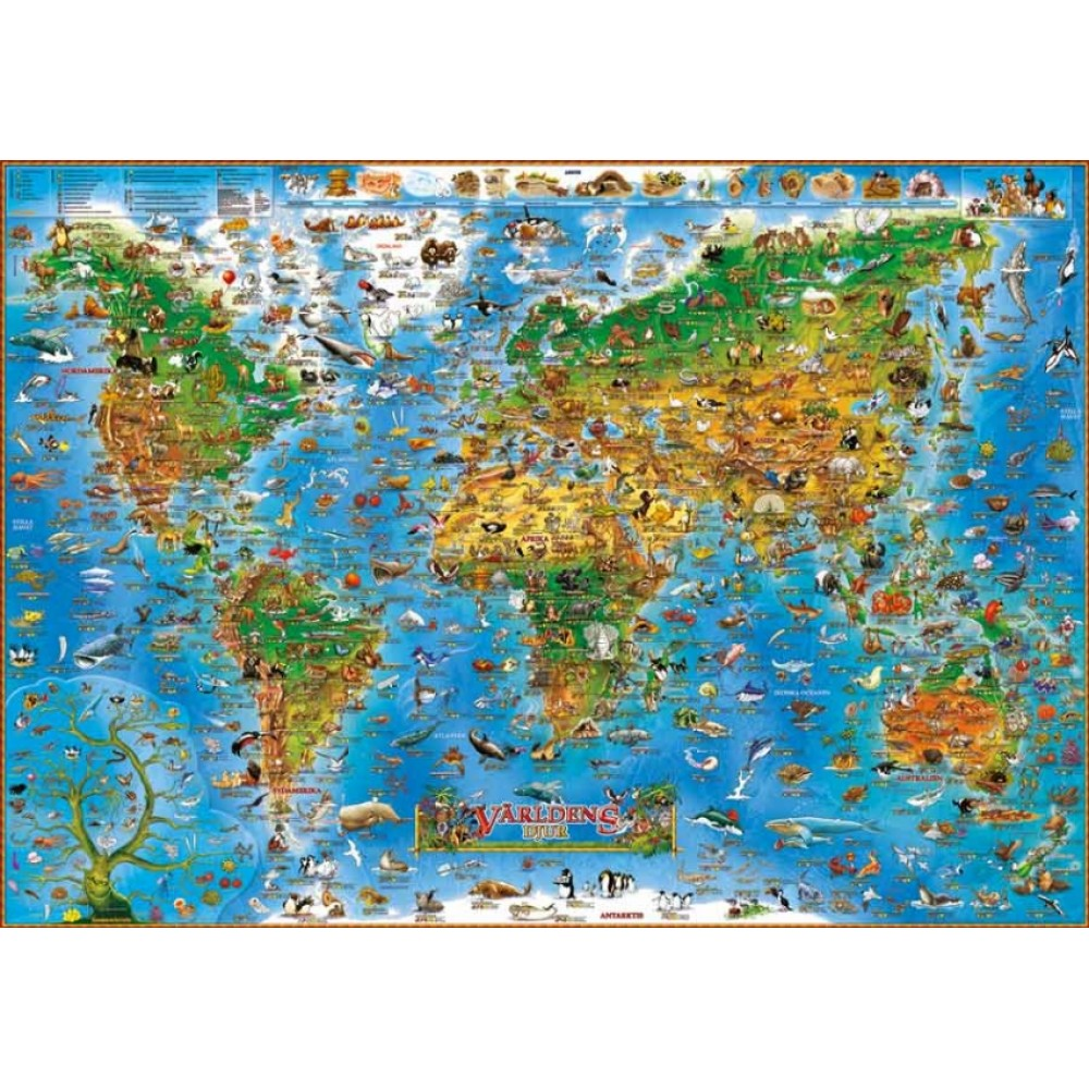 Världens djur 137x97cm