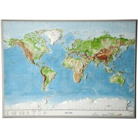 Världen Relief 77x57cm