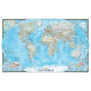 Världen NGS 1:38,93milj POL 110x77cm med ram
