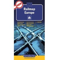Järnvägskarta Europa K+F