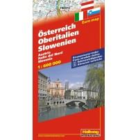 Österrike Norra Italien Slovenien Hallwag