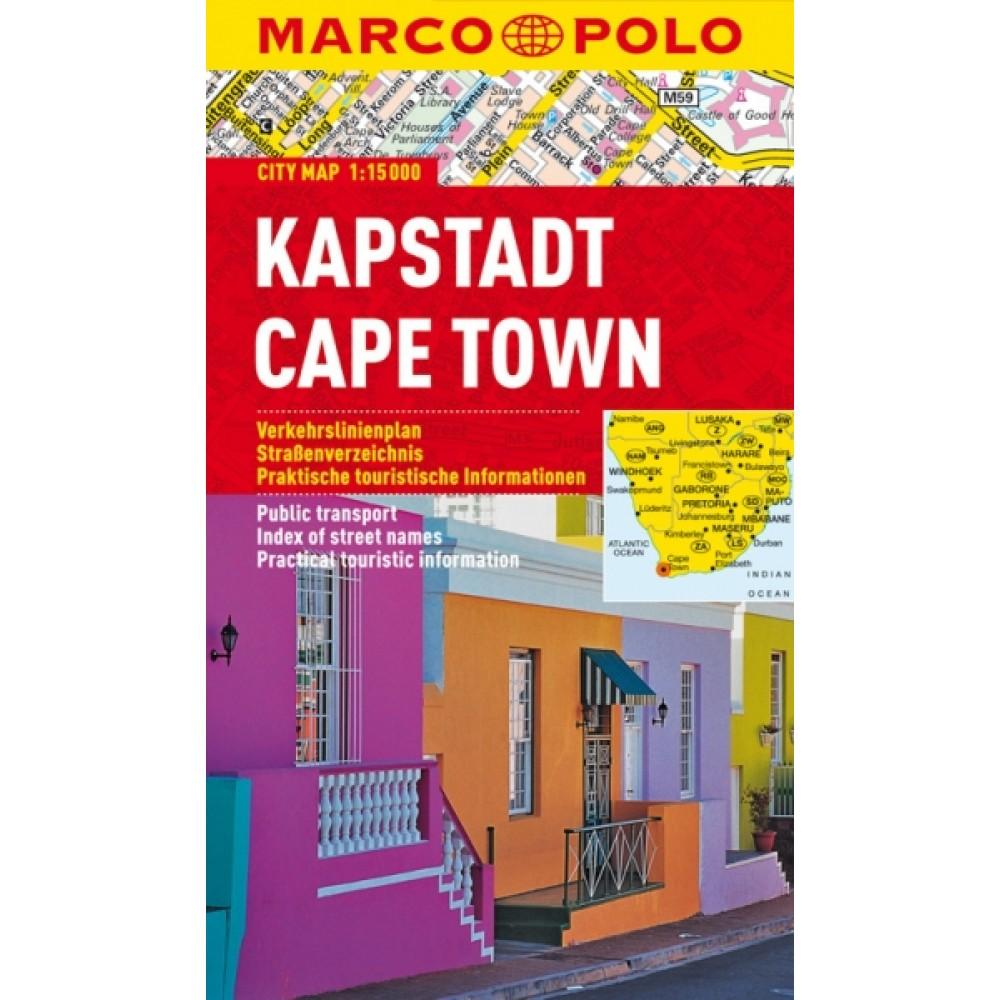 Kapstaden Stadskarta Marco Polo
