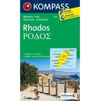 248 Rhodos Kompass Wanderkarte