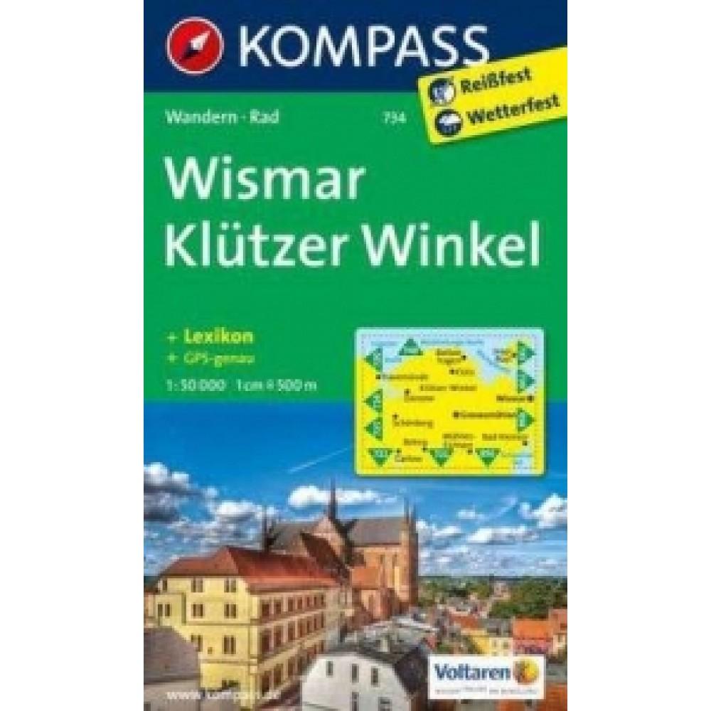 734 Kompass Wanderkarte