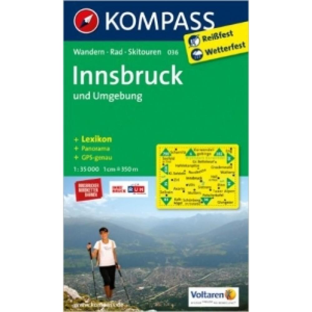 036 Kompass Wanderkarte