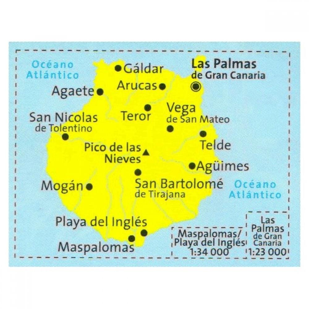 237 Gran Canaria Kompass Wanderkarte