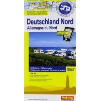 Norra Tyskland Campingkarta