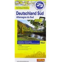Södra Tyskland Campingkarta