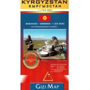 Kirgizistan GiziMap 1:750 000