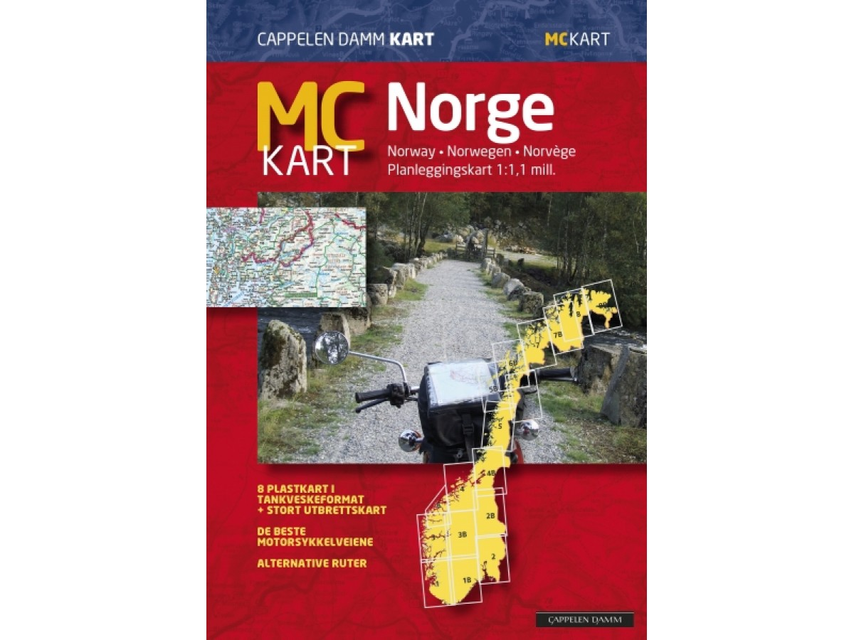 Karta Syd Norge.Kop Mc Karta Norge Cappelen Med Snabb Leverans Kartbutiken Se