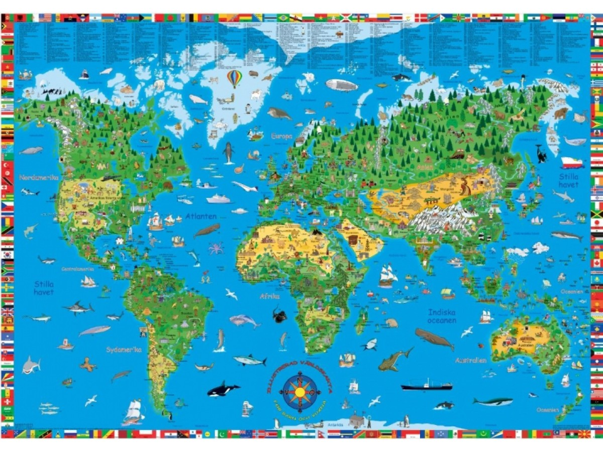 karta nordamerika