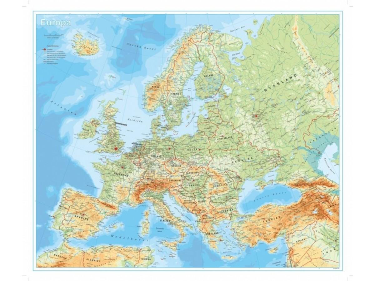 Europa Norstedts 1:5,5 milj  FYS 98x82cm