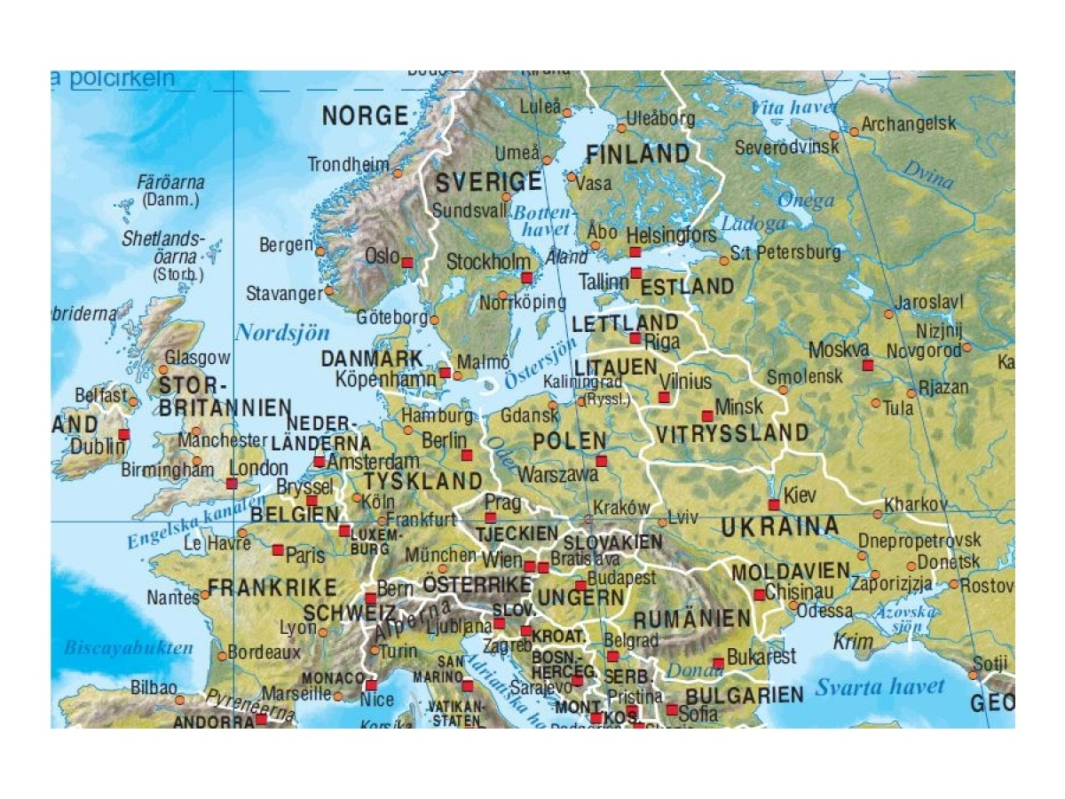 Karta Over Varldens Bergskedjor.Kop Varlden Norstedts 1 43 8 Fysisk 78x49cm Med Snabb Leverans