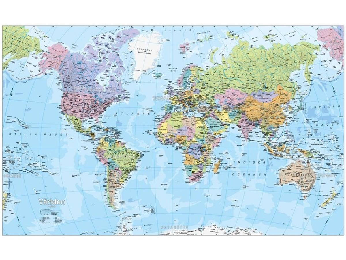 Befolkningsfördelning i världen