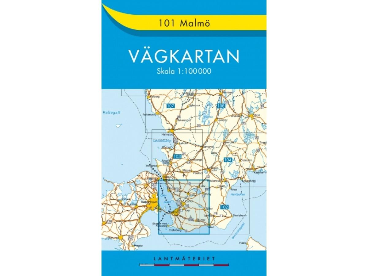 101 Malmö Vägkartan
