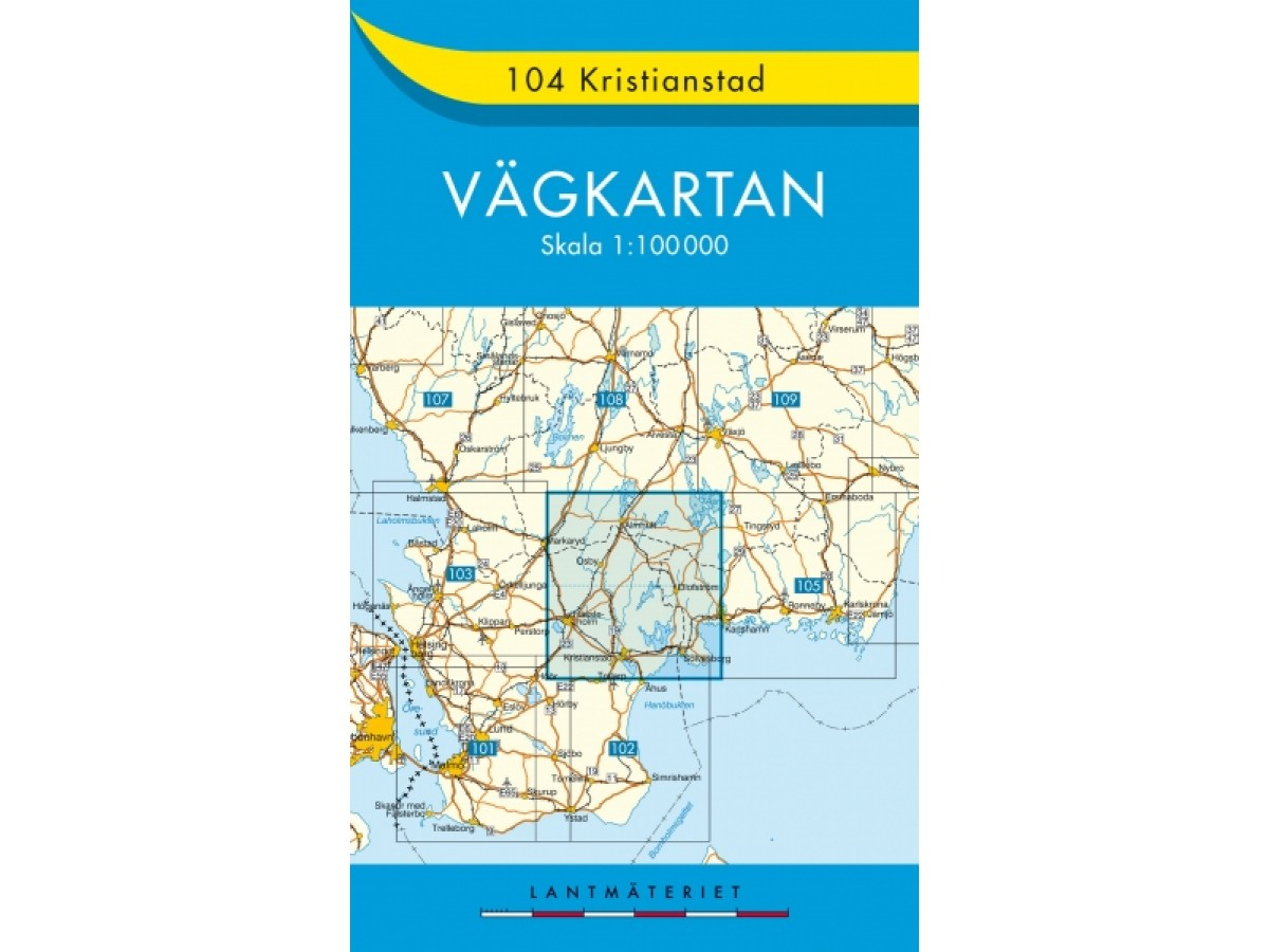 104 Kristianstad Vägkartan