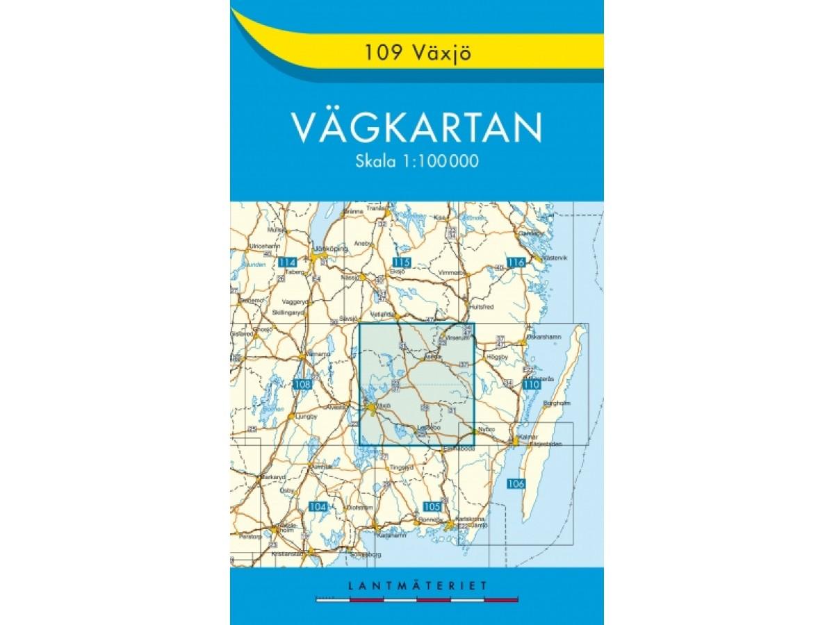 109 Växjö Vägkartan