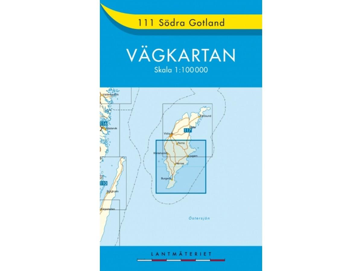 111 Södra Gotland Vägkartan