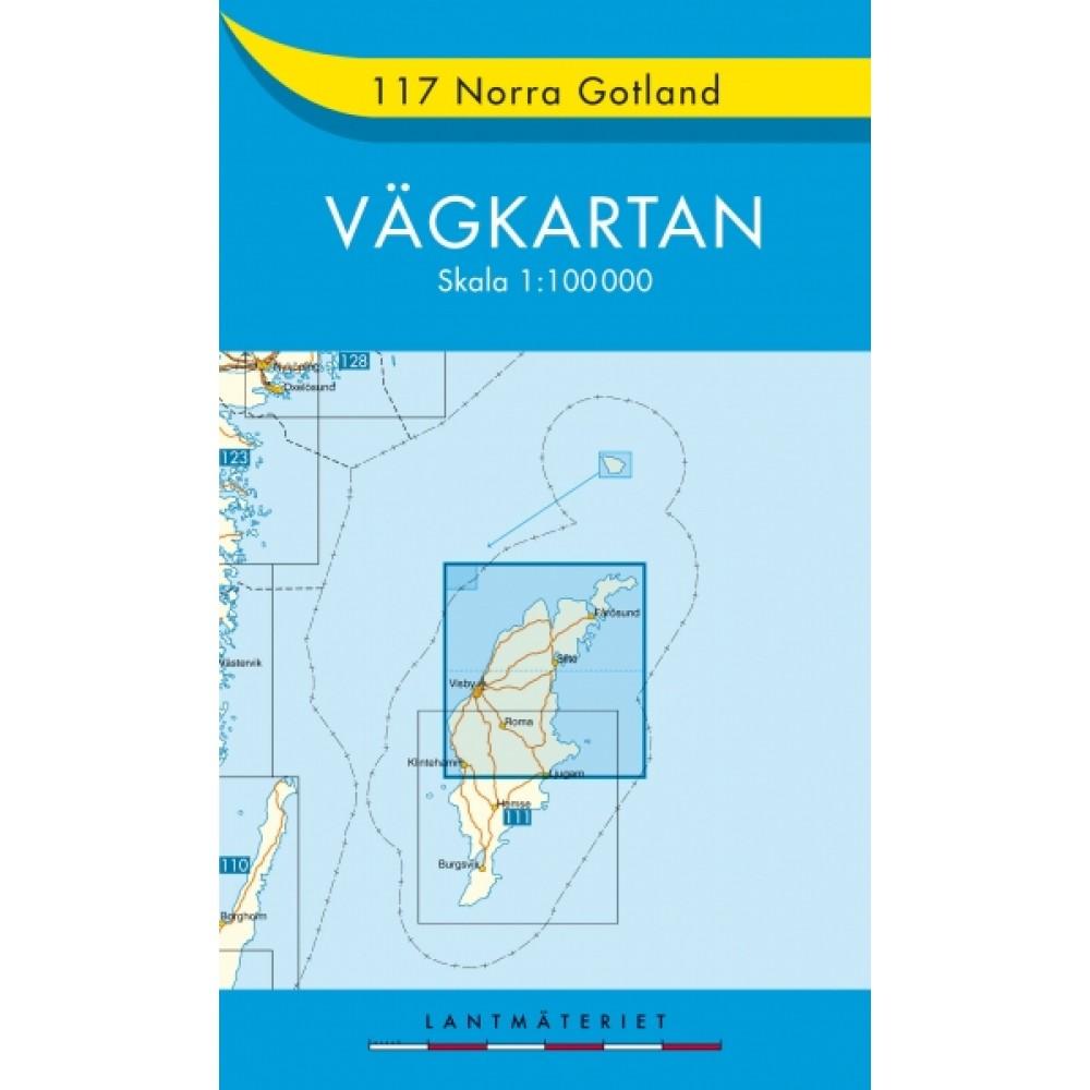 117 Norra Gotland Vägkartan