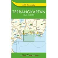 511 Ronneby Terrängkartan