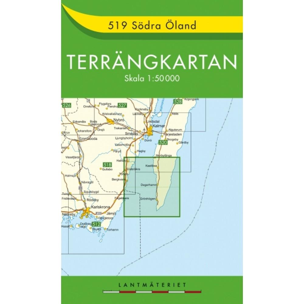 519 Södra Öland Terrängkartan