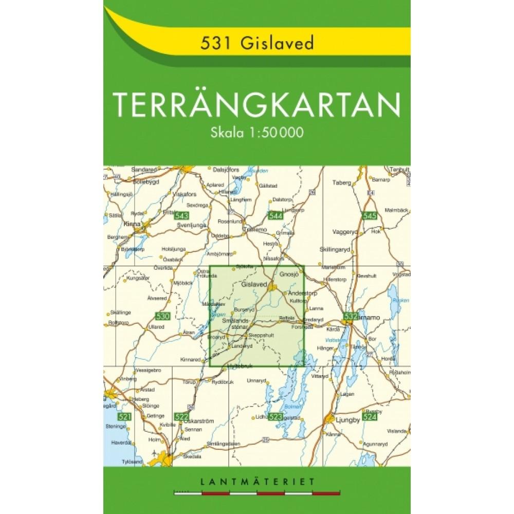 531 Gislaved Terrängkartan