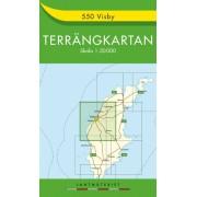 550 Visby Terrängkartan