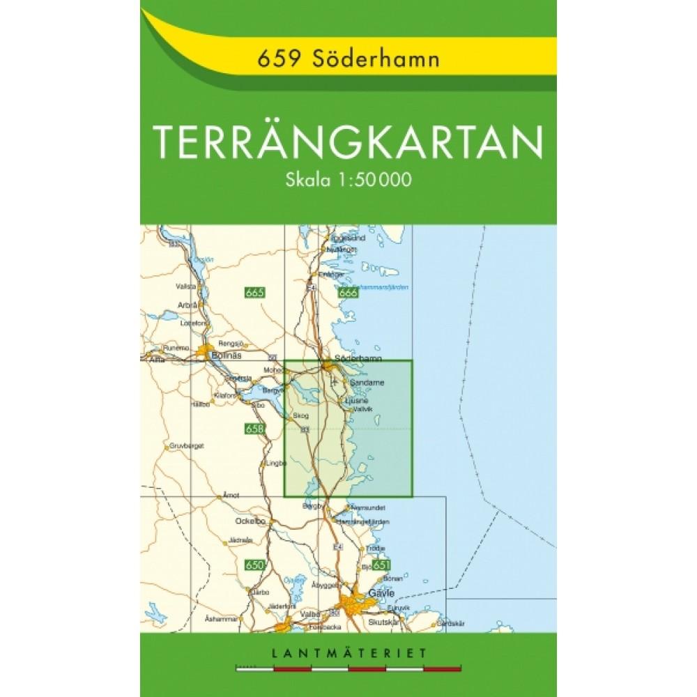 659 Söderhamn Terrängkartan