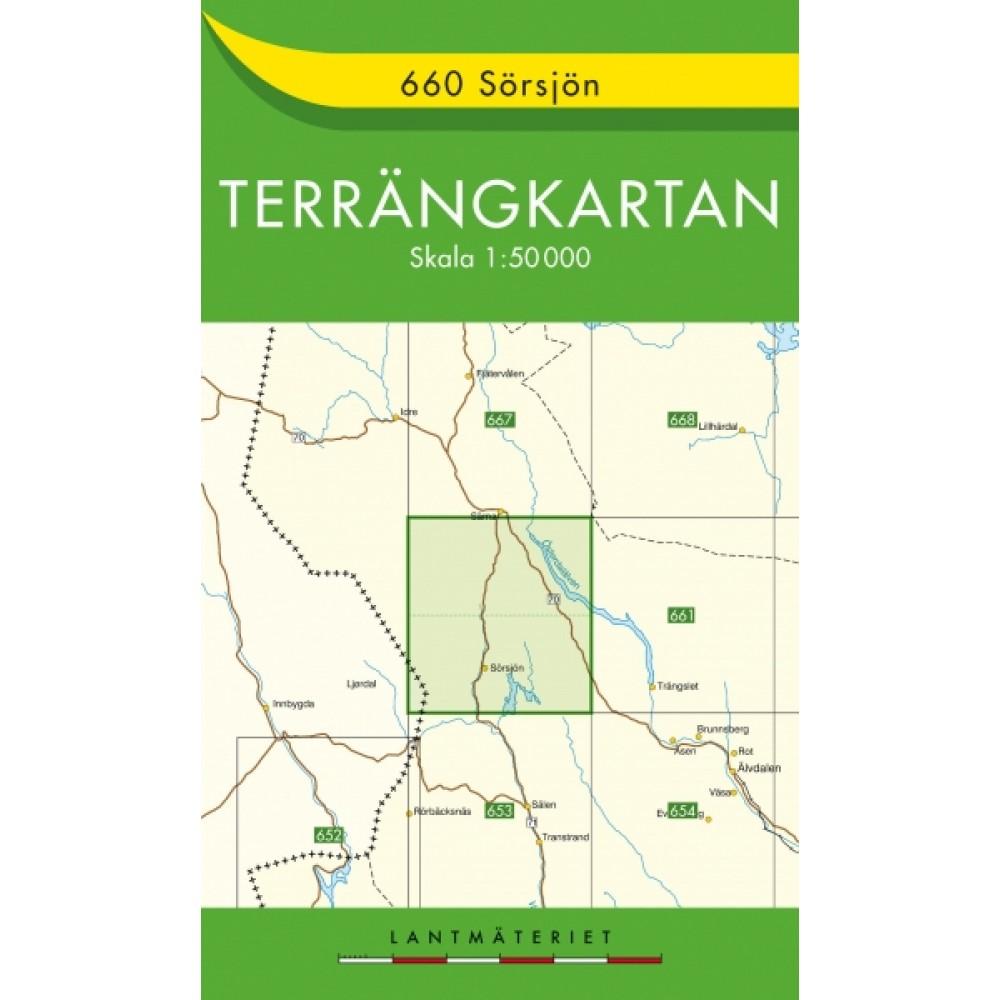 660 Sörsjön Terrängkartan