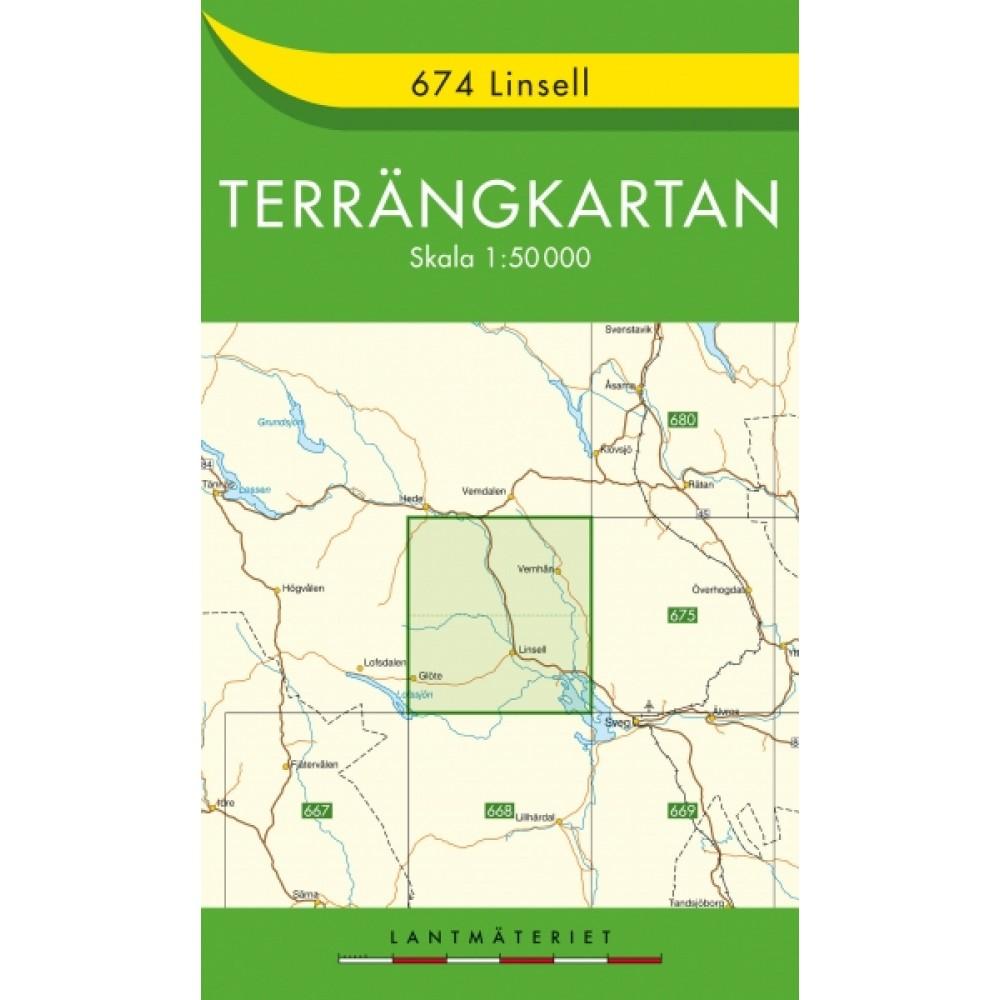 674 Linsell Terrängkartan