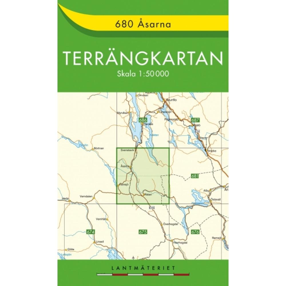 680 Åsarna Terrängkartan