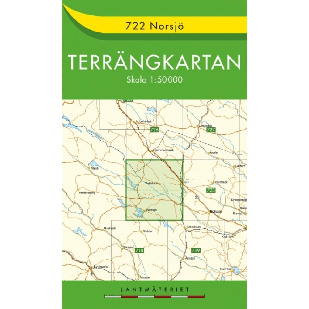 722 Norsjö Terrängkartan