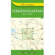 725 Arvidsjaur Terrängkartan
