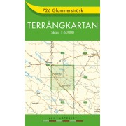 726 Glommersträsk Terrängkartan