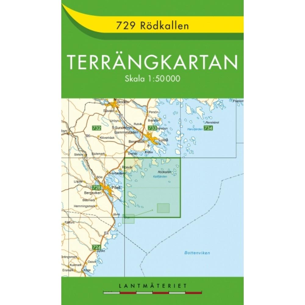 729 Rödkallen Terrängkartan