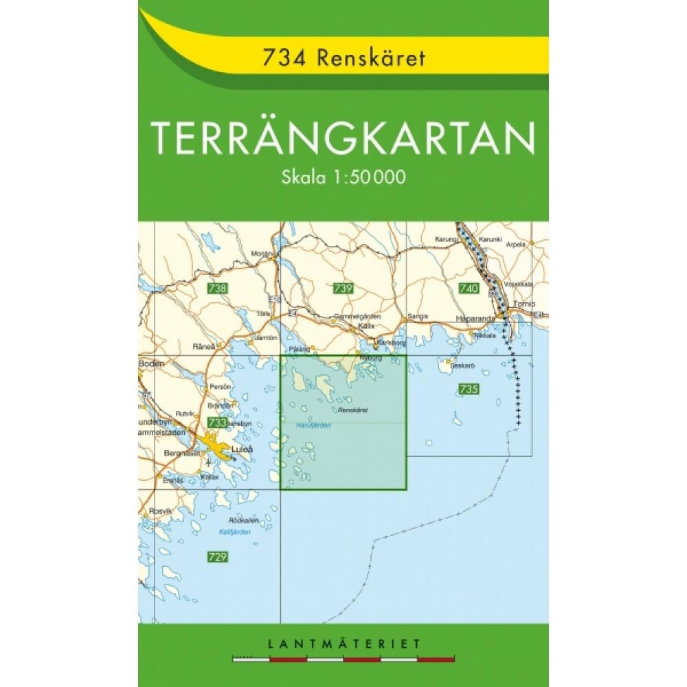 734 Renskäret Terrängkartan