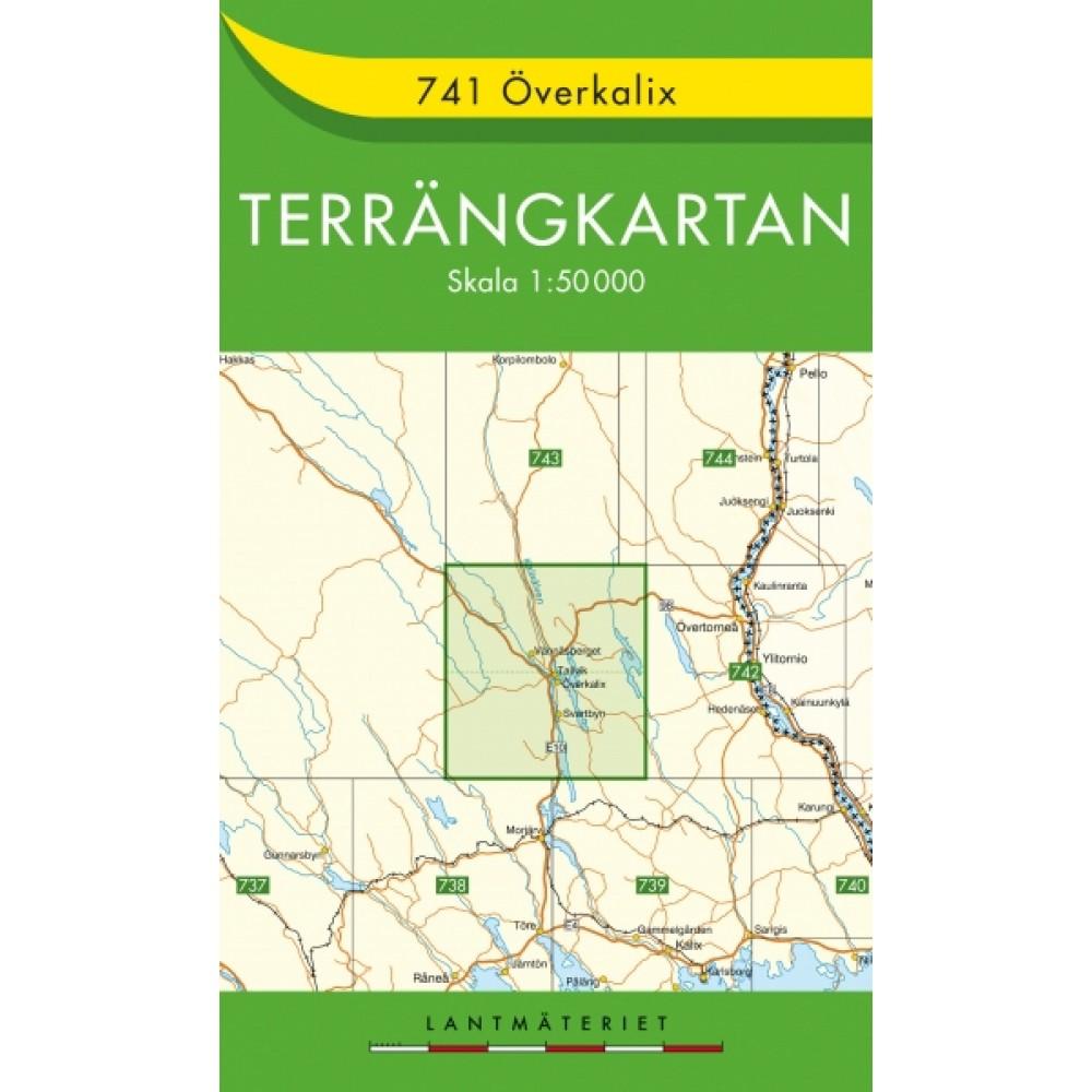 741 Överkalix Terrängkartan