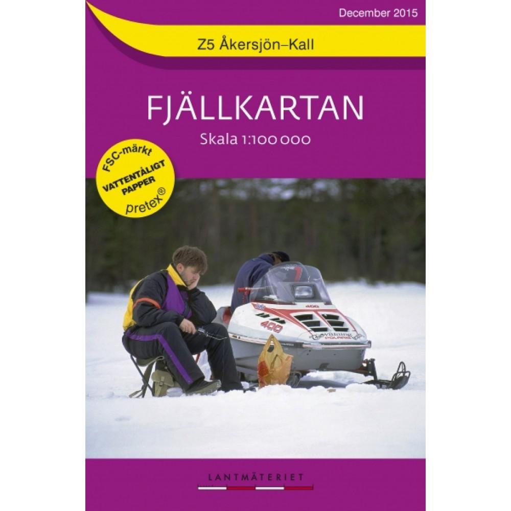 Z5 Åkersjön-Kall Fjällkartan