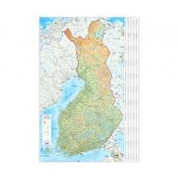 Finland Väggkarta