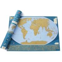 Skrapkarta Världen 70x49cm