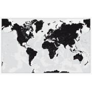 Världen svartvit Norstedts 136x85cm med ram