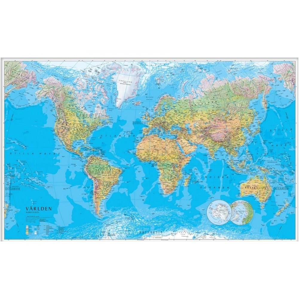 Världen Norstedts 1:30milj FYS 137x85cm med ram