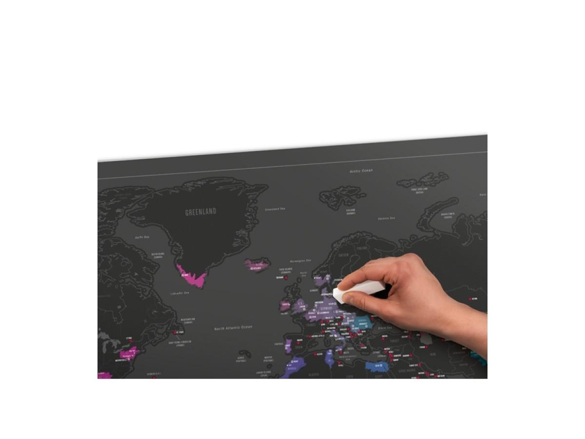 Scratch Map Capitals