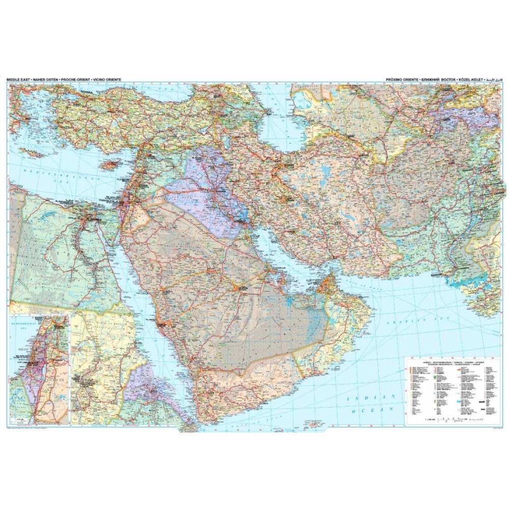 Mellanöstern GiziMap 1:4milj POL