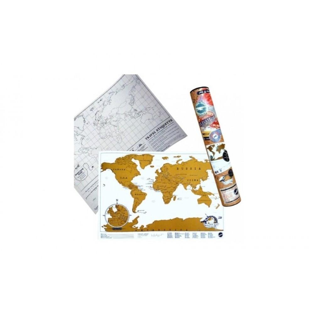 Scratch Map Travel Edition 42x30cm