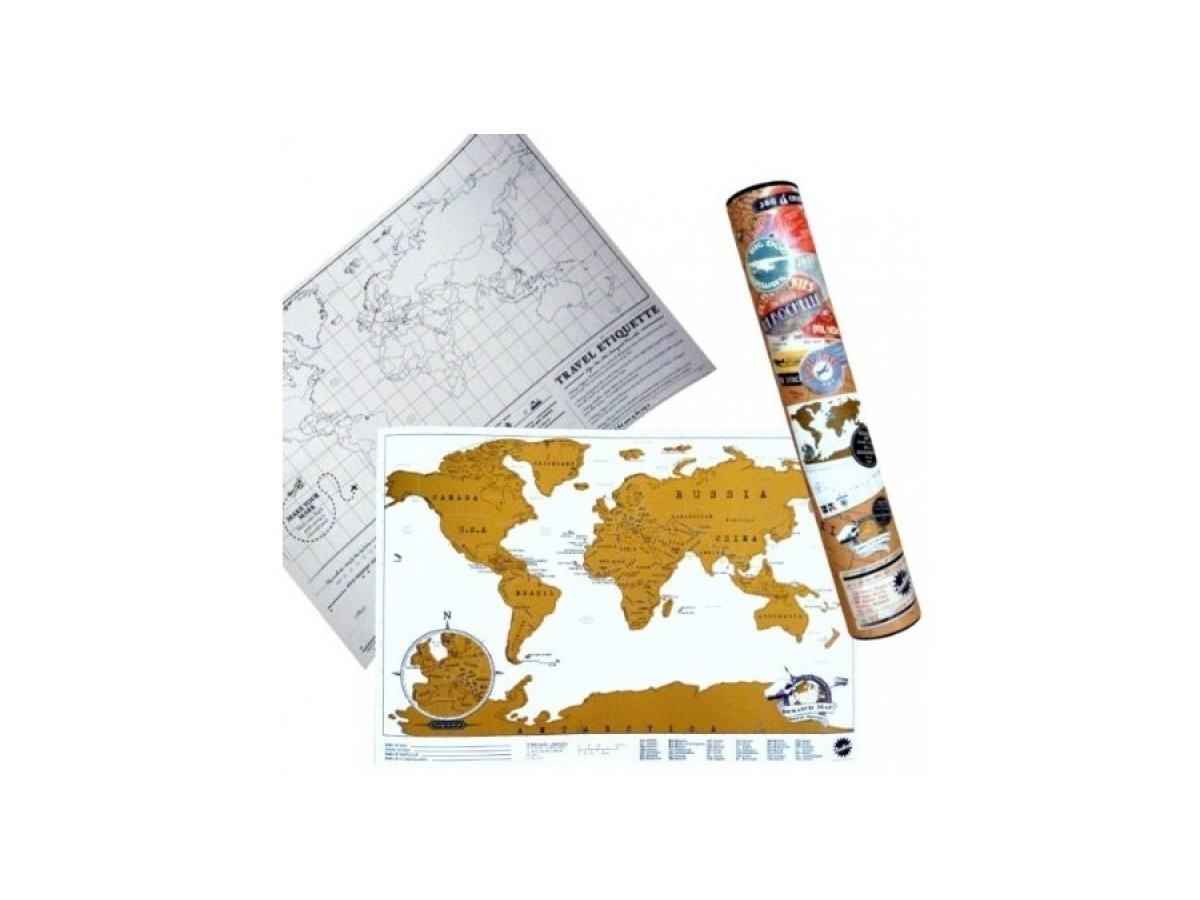Scratch Map Travel Edition 42x30cm